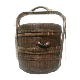Chinese Stacking Sewing Basket