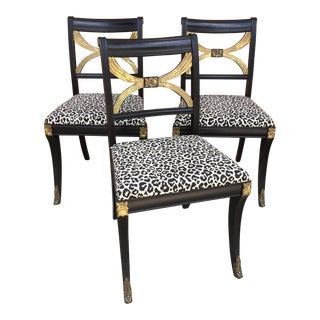 Klismos-Form French Empire-Style Chairs - Set of 3