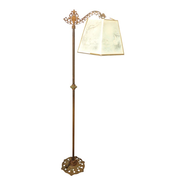 Antique Andres Orpinas Victorian French Country Metal Floor Lamp - Image 1 of 10