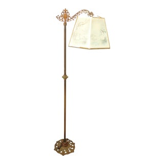 Antique Andres Orpinas Victorian French Country Metal Floor Lamp