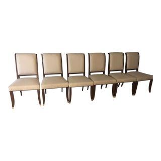 Maitland-Smith Dark Walnut Dining Chairs - Set of 6