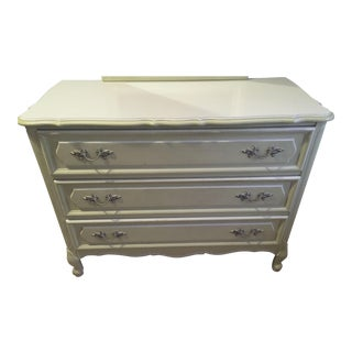 Lowboy Dresser (3-Drawer): Vintage 1960s Henry Link French Provincial Bedroom Furniture - 1 of 14 Pieces