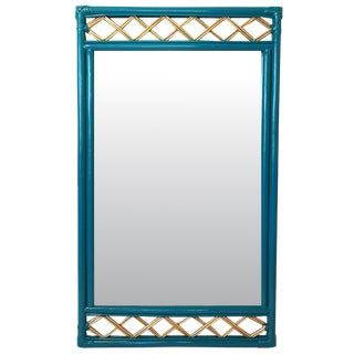 Vintage Ficks Reed Rattan Mirror