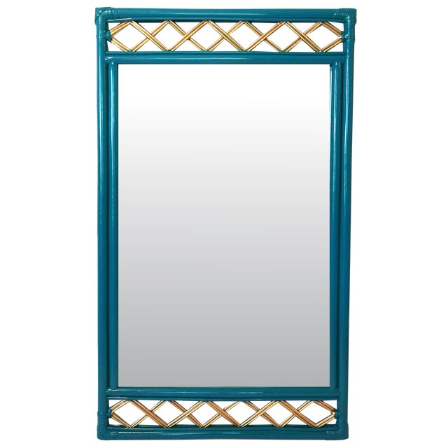 Vintage Ficks Reed Rattan Mirror - Image 1 of 7
