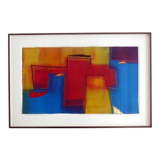 Framed Colorful Mono Print