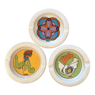 Peter Max Ashtray Collection - Set of 3