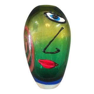 Murano Abstract Glass Art Vase