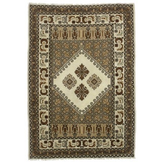 "Hand Knotted Wool Moroccan Rug - 6'8"" X 9'"