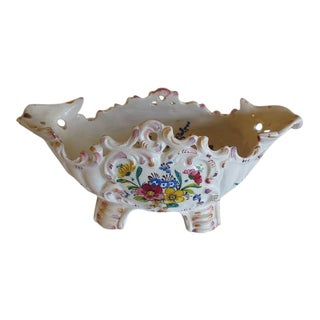 Italian Hand Painted Porcelain Vessel