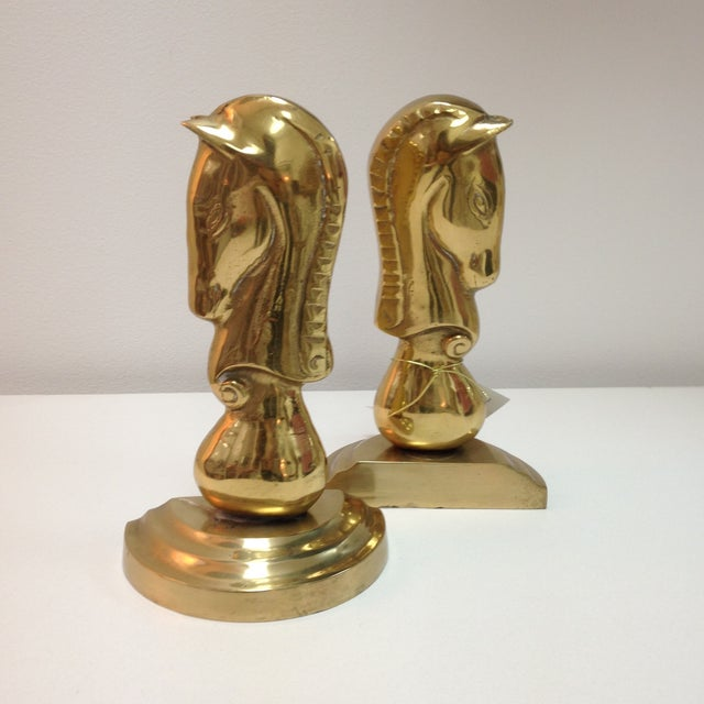 Brass Horse Bookends - Pair - Image 6 of 6