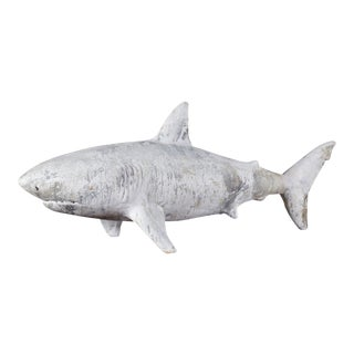 Contemporary Hand Sculpted Shark Sculpture, California