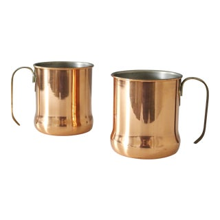 Set of 2 Vintage Copper Moscow Mule Mugs Cups Coppercraft Guild