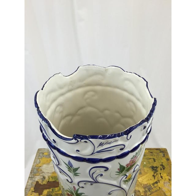 Hand Painted Ceramic Umbrella Stand or Tall Vase - Image 5 of 5