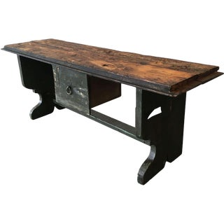 French Antiques Cottage Bench With Drawer