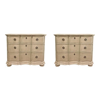 Gray Hickory Chair Chests - A Pair