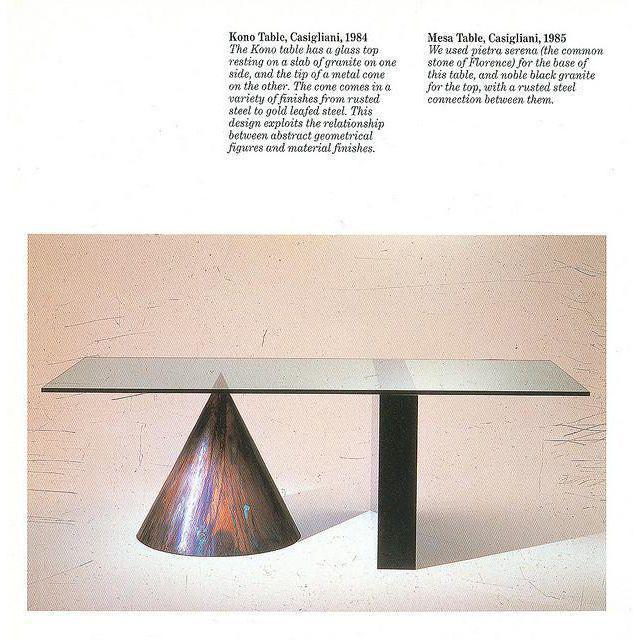 1985 Massimo and Leil Vignelli for Casigliani Italia Kono Table - Image 3 of 5