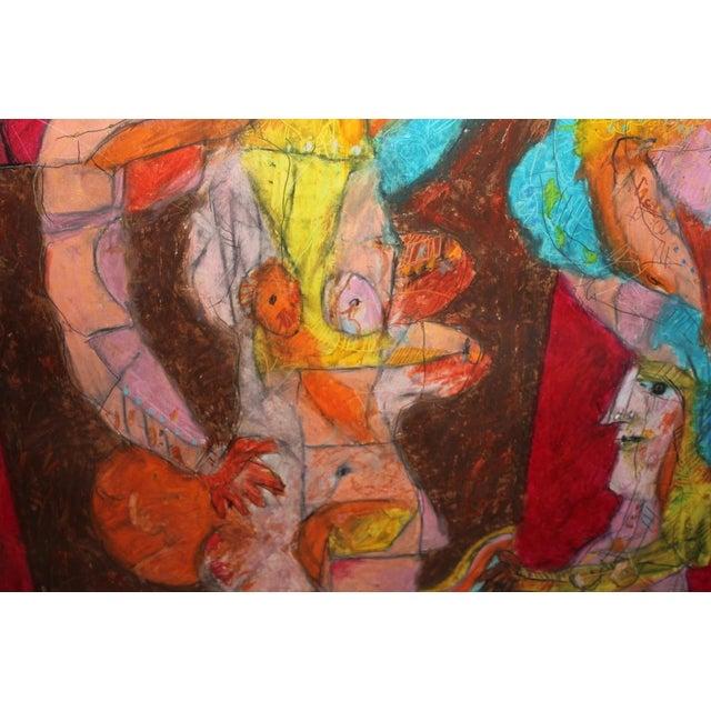 Image of Norman Laliberte Mixed-Media Abstract, 1974