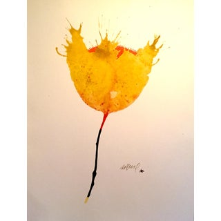 Solar Poppie Watercolor Painting