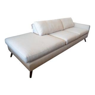 TrueModern Dane Ivory One Arm Sofa