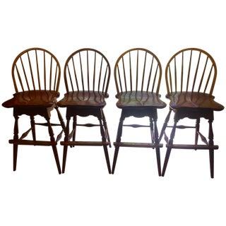 Stickley Bow Back Barstools - Set of 4