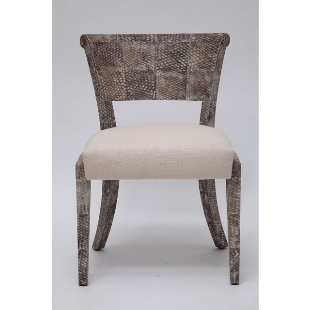 Pair of Fishskin Covered Chairs - Image 5 of 10