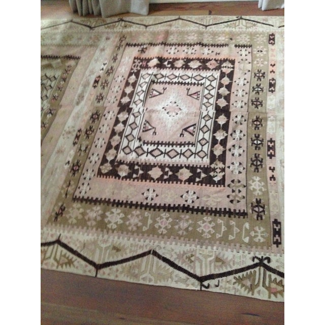 Turkish Kilim Rug - 5′3″ × 8′9″ - Image 3 of 6