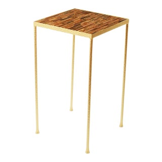 Toby Blue Tigereye Side Table