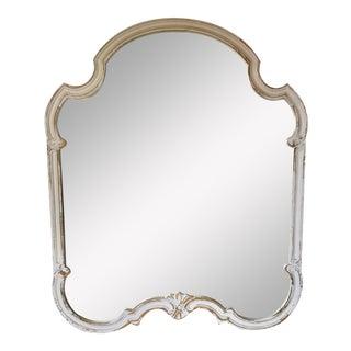 White Distressed Vintage Wood Mirror