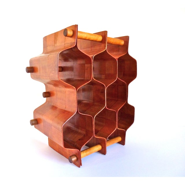 Torsten Johansson Bentwood Honeycomb Wine Rack - Image 2 of 8