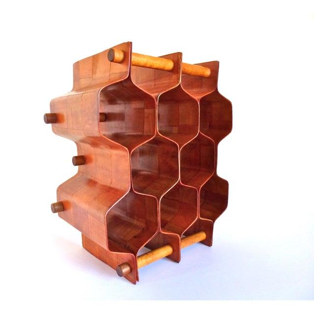 Image of Torsten Johansson Bentwood Honeycomb Wine Rack