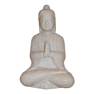 Antique White Marble Buddha Statue