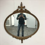 Image of Antique Ornate Gold Oval Mirror
