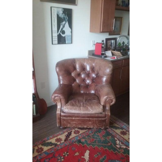Ralph Lauren Writers Chair & Ottoman - Image 3 of 4