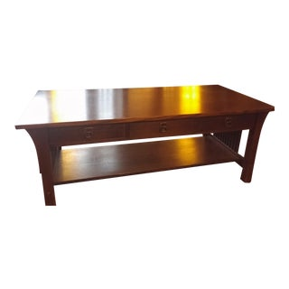 Stickley Three Drawer Cocktail Table