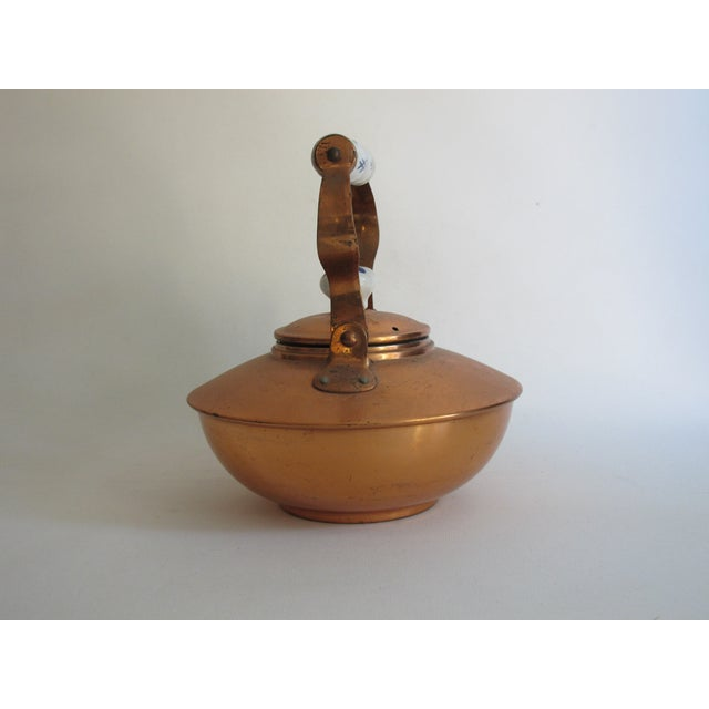 French Copper & Ceramic Teapot - Image 4 of 7