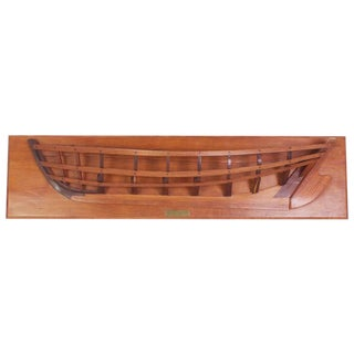 Mahogany Half Hull Boat Model