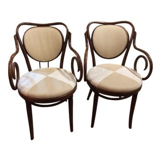 Vintage Bentwood Arm Chairs - A Pair