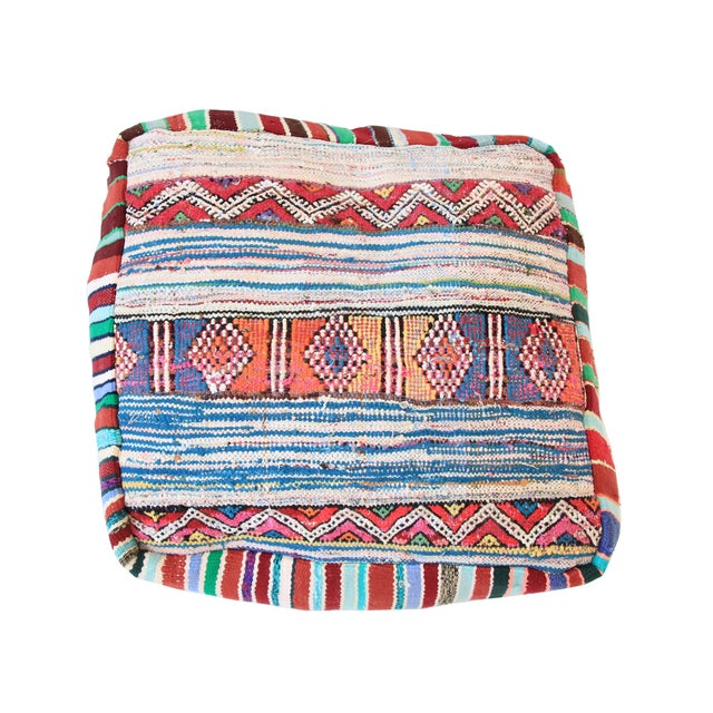 Vintage Moroccan Pouf - Image 1 of 6