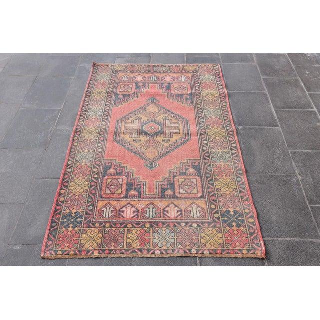 "Vintage Turkish Handmade Anatolian Wool Carpet - 3'6"" X 5'6"" - Image 2 of 7"