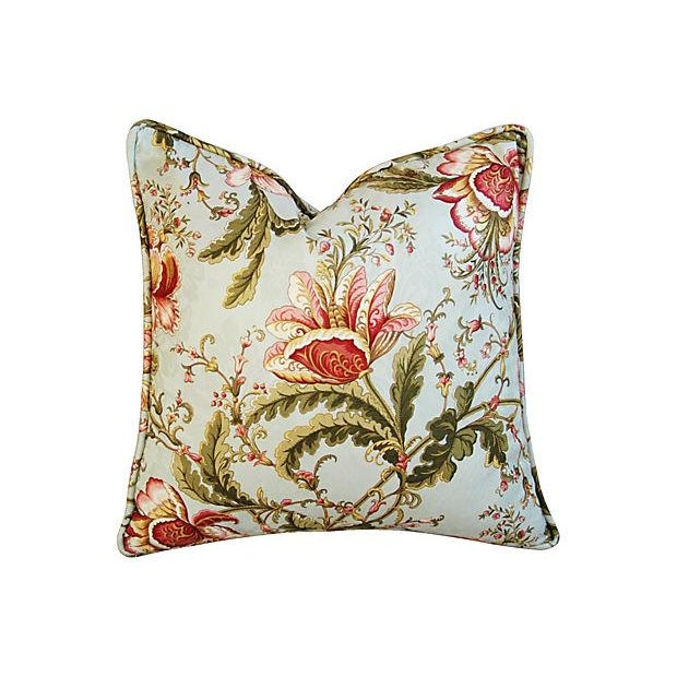 Custom Swavelle Mill Creek Floral Pillows - A Pair - Image 2 of 7