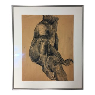 Mid-Century Charcoal Male Nude Study