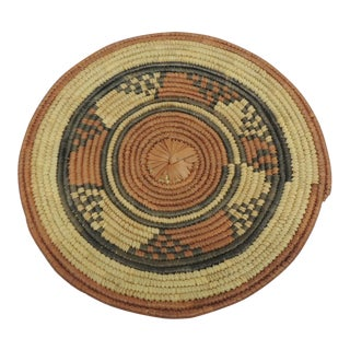 Small Flat African Tribal Basket