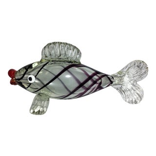 Large Italian Hand Blown Murano Glass Fish