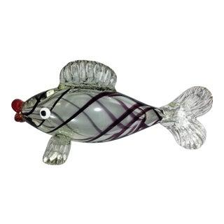 Large Italian Hand Blown Murano Glass Fish