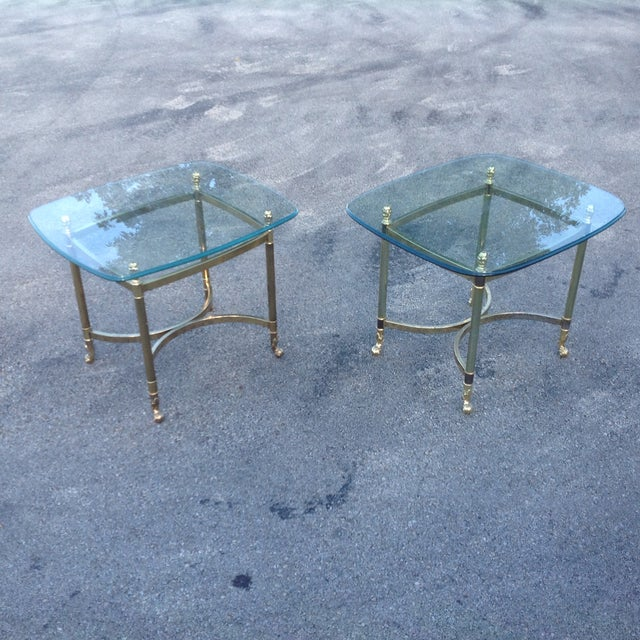 Brass Labarge Hollywood Regency Side Tables a Pair - Image 4 of 6