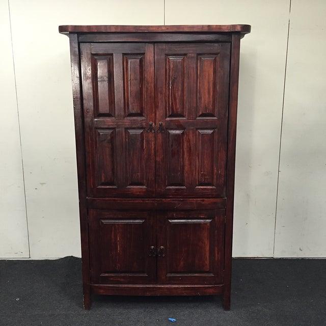 Mahogany Solid Wood 4 Door Armoire - Image 2 of 7