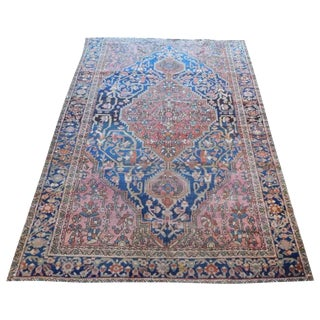 Antique Persian Sarouk Farahan Rug - 4′4″ × 6′2″