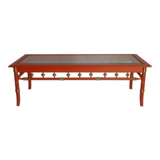 Vintage Palm Beach Style Coffee Table