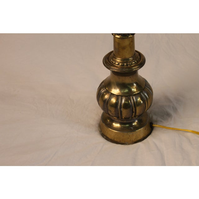 Silvery Brass Lamp With Mica Shade - Image 5 of 5