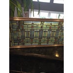 Image of Frank Lloyd Wright-Inspired Stained Glass Panel
